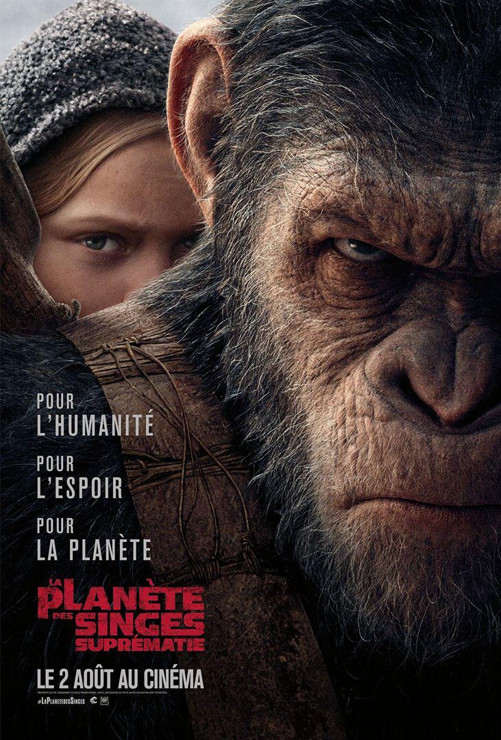 La Planète des Singes - Suprématie à la location en dvd et bluray