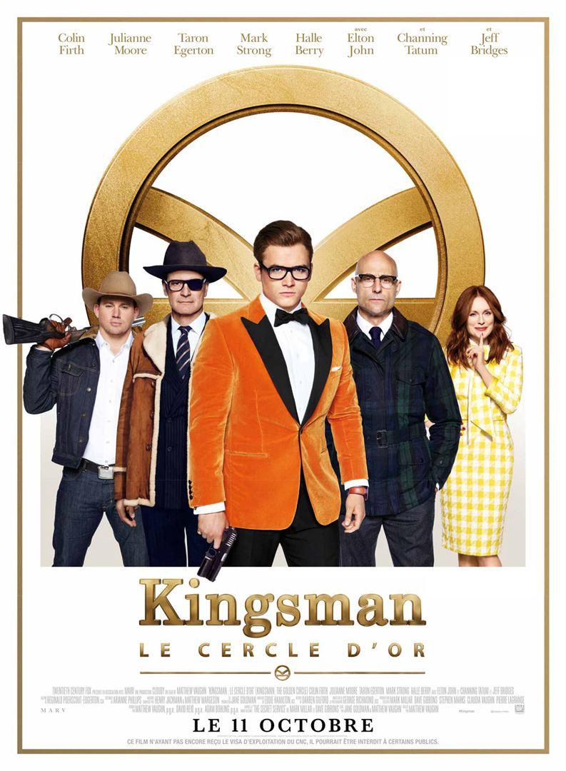 Kingsman le cercle d'or à la location en dvd
