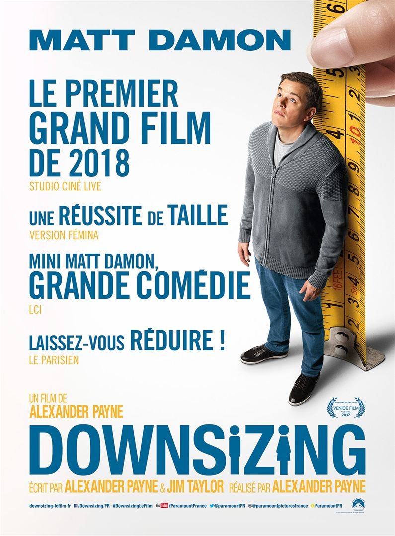 Downsizing à la location en dvd